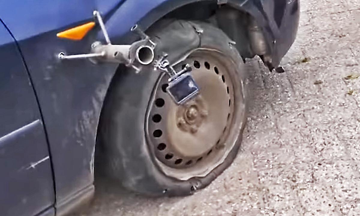 100 km/h mit plattem Reifen: Video | autozeitung.de