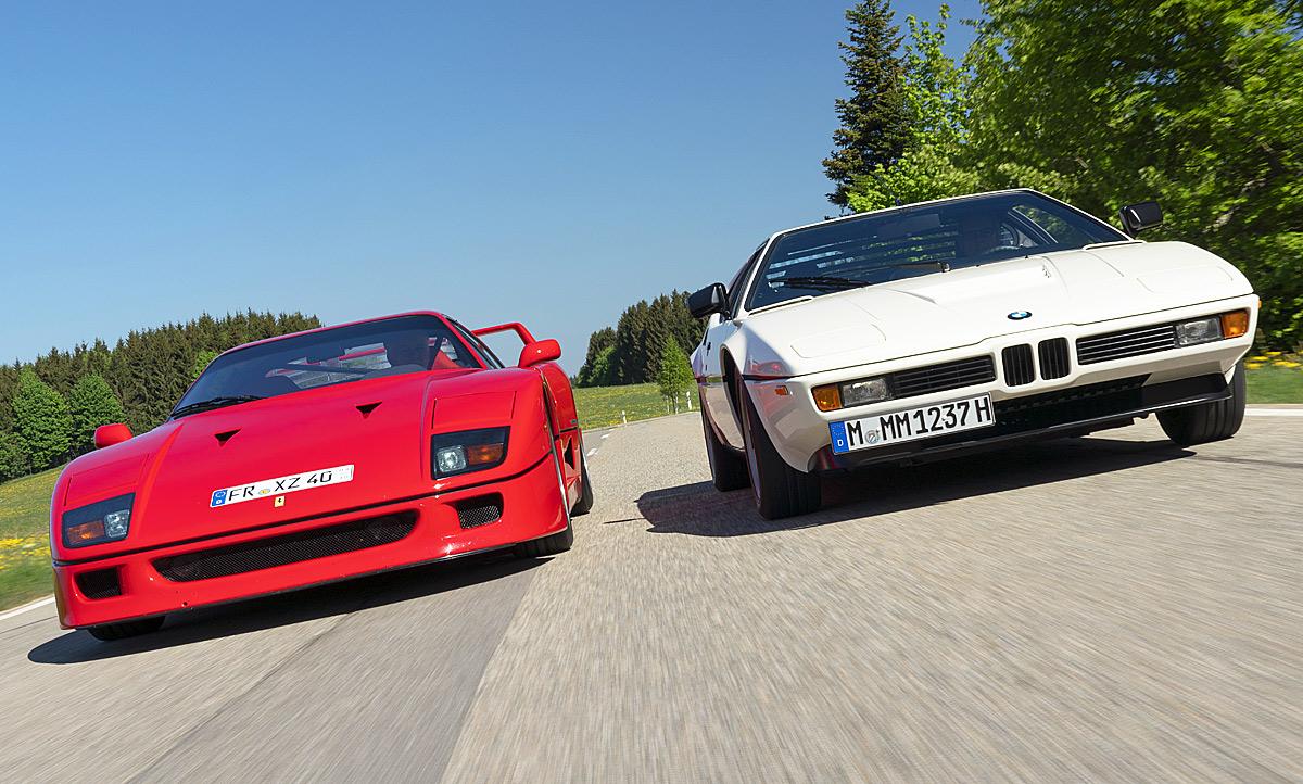 Bmw M1 Ferrari F40 Classic Cars Autozeitung De