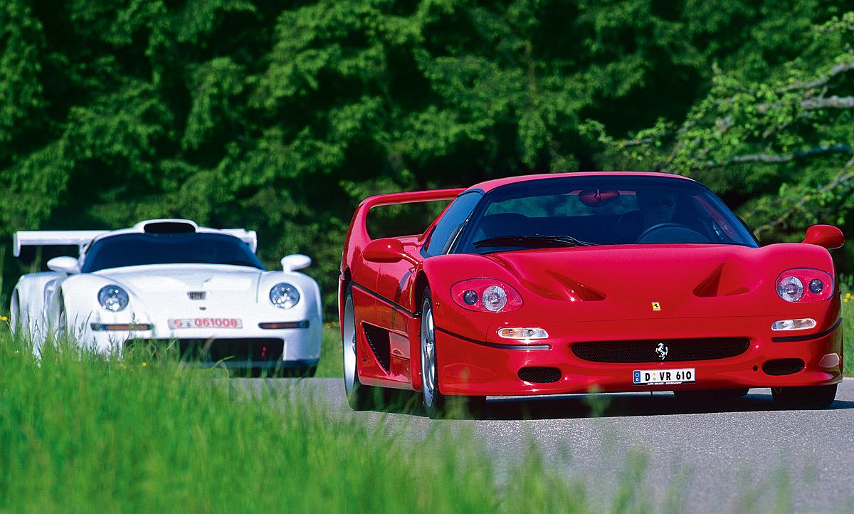 Ferrari F50 Porsche 911 Gt1 Classic Cars Autozeitung De
