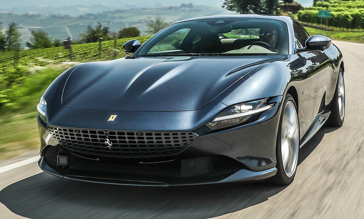 Neuer Ferrari Roma 2020 Erste Testfahrt Autozeitung De