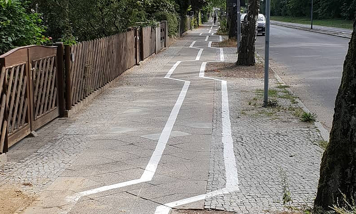 Zickzack Radweg Berlin