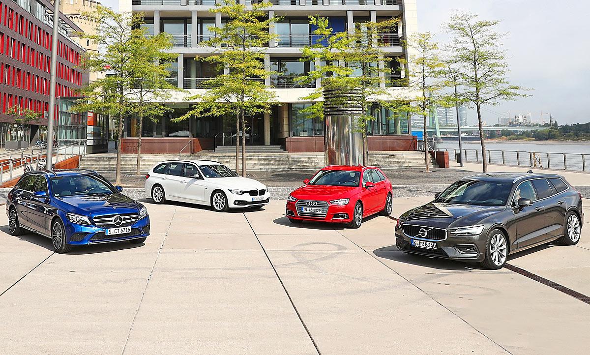 Deutsche Mittelklasse-Kombis gegen den neuen Volvo V60