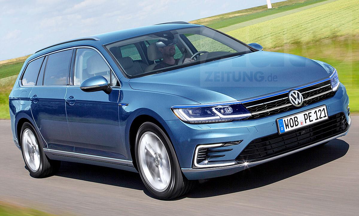 Vw Passat Variant Facelift 2019 Erste Fotos Vom B8 Autozeitung De