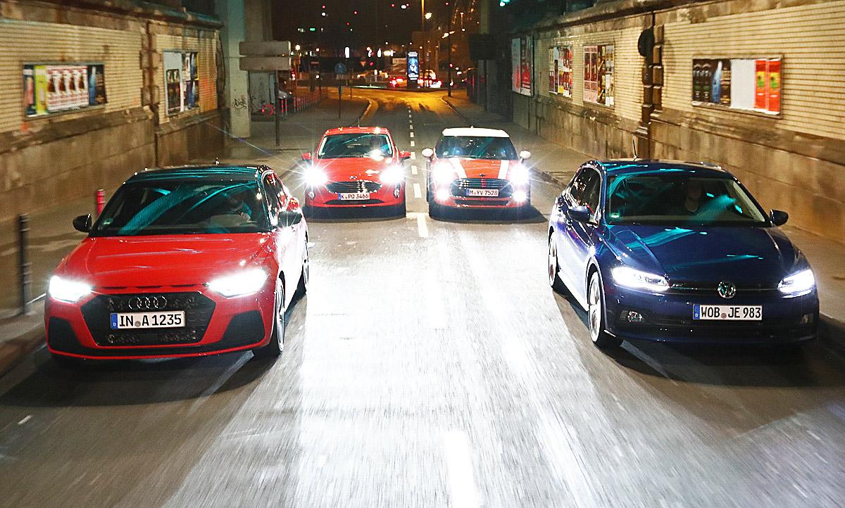Audi A1ford Fiestamini Coopervw Polo Test Autozeitungde