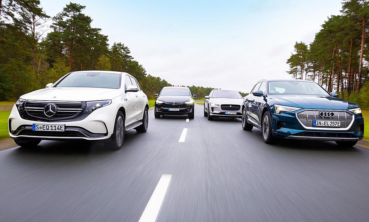 e-tron/I-Pace/EQC/Model X: Vergleichstest   autozeitung.de