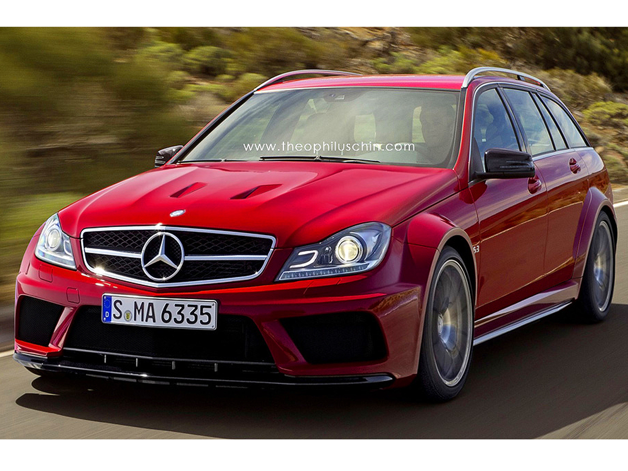 mercedes c 63 amg black series t modell power kombi. Black Bedroom Furniture Sets. Home Design Ideas