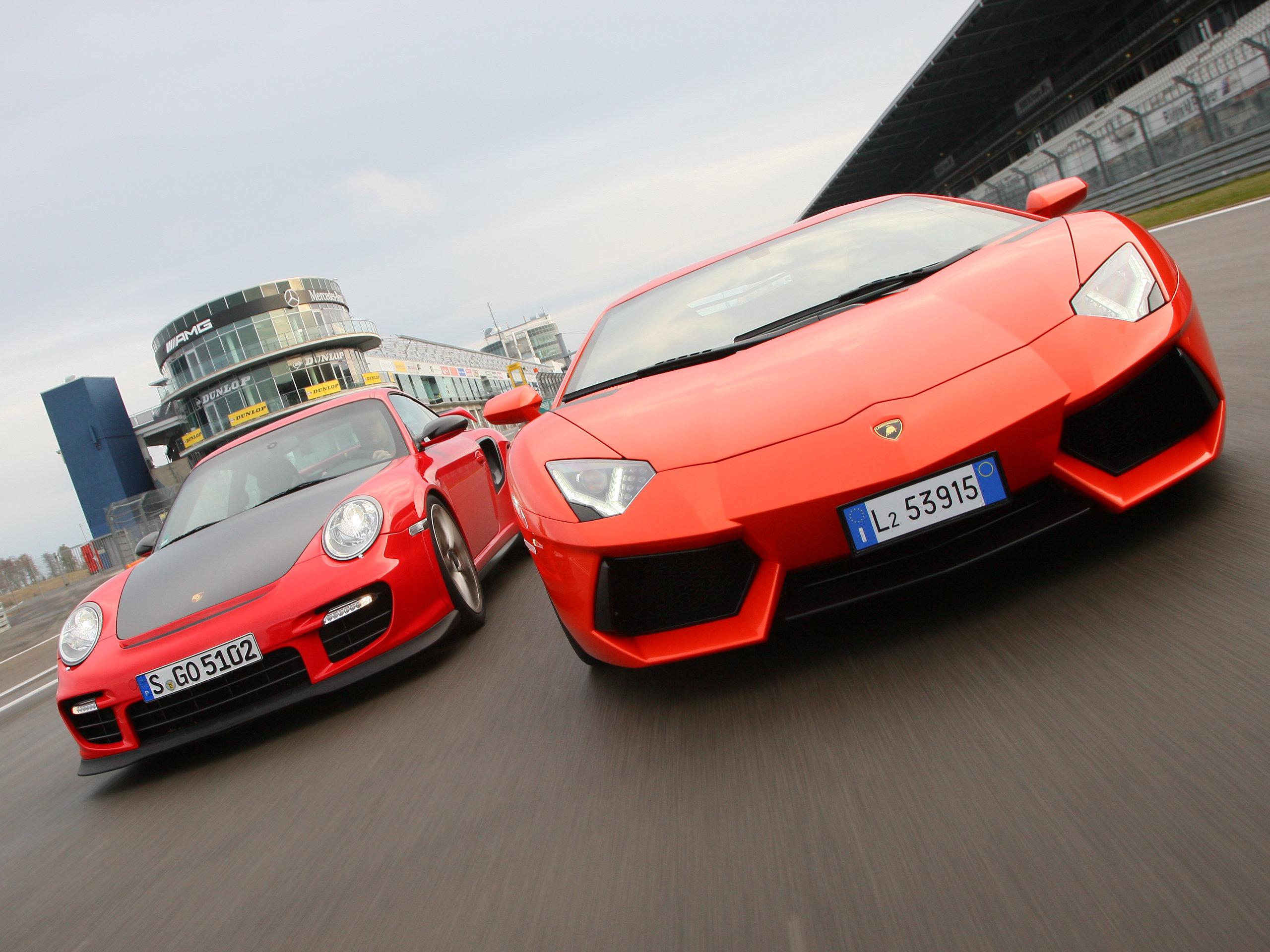 Bilder-Porsche-911-GT2-RS-Lamborghini-Aventador-LP-700-4-Vergleich-2012-004 Stunning Porsche 911 Gt2 Rs Vs Lamborghini Aventador Cars Trend