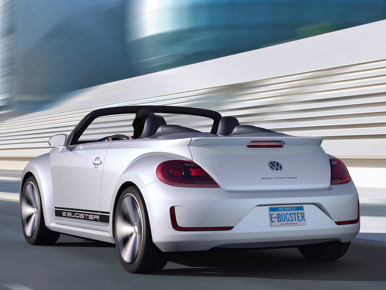 vw beetle cabrio 2012 e bugster als vorschau auf auto china peking. Black Bedroom Furniture Sets. Home Design Ideas