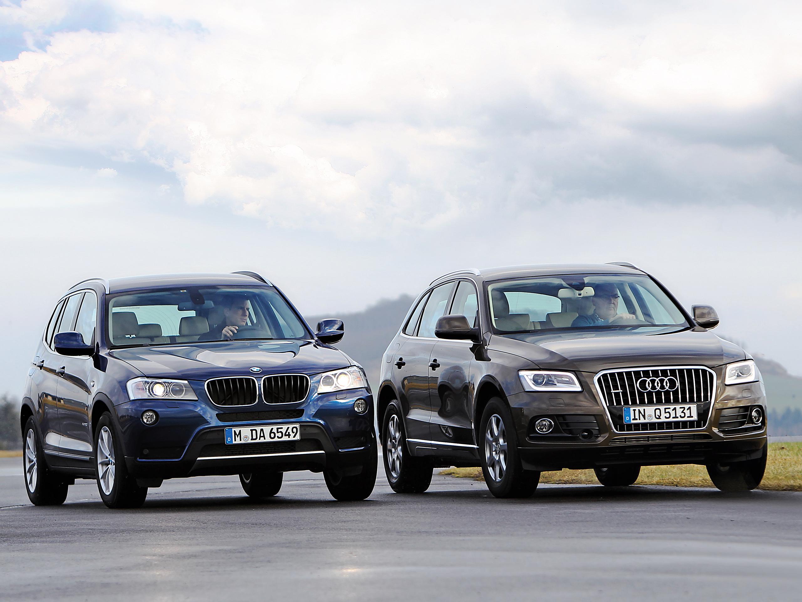Vergleich SUV Audi Q5 2 0 TDI quattro gegen BMW X3 xdrive20d