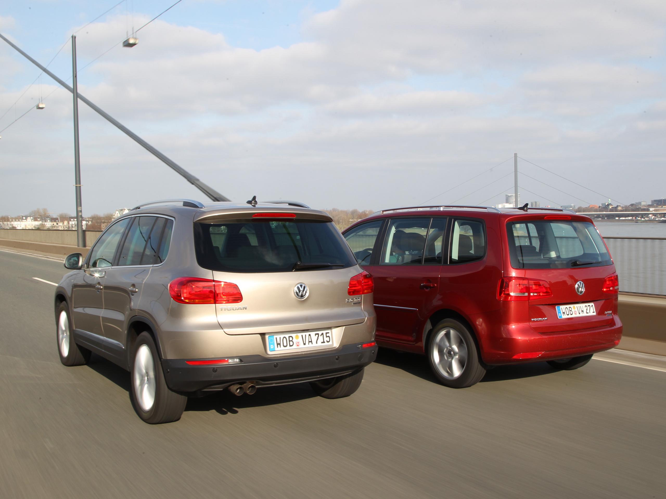 SUV und Van Vergleich VW Tiguan gegen VW Touran