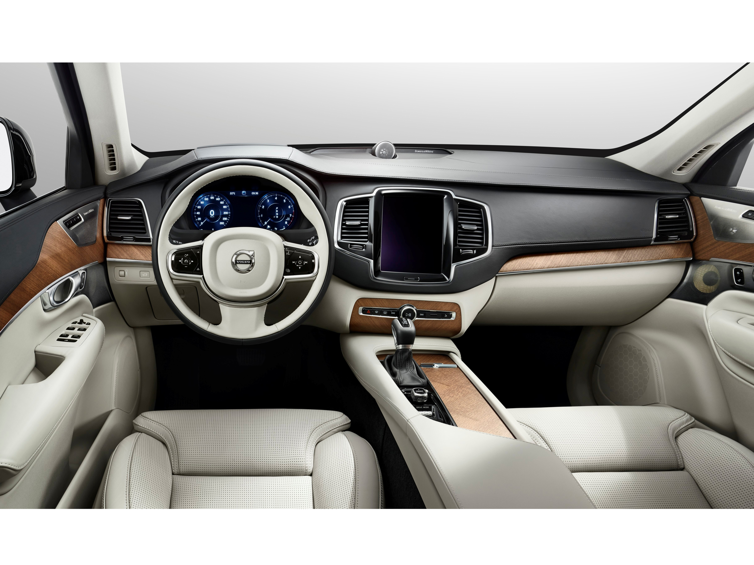 volvo xc90 2015 erste innenraum bilder. Black Bedroom Furniture Sets. Home Design Ideas