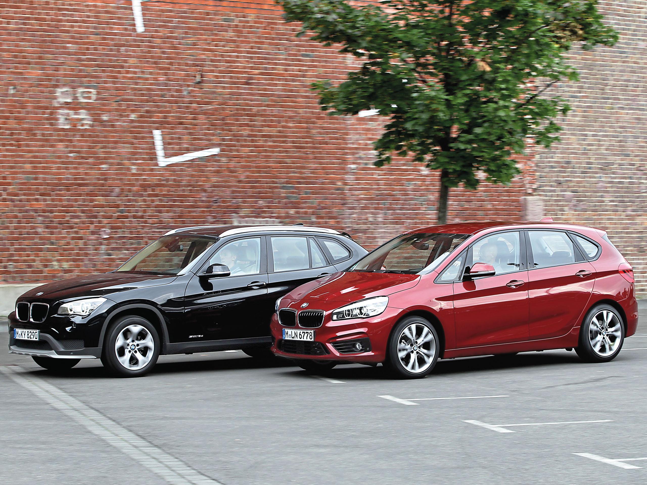 Vergleichstest BMW 2er Active Tourer gegen BMW X1 sDrive18d