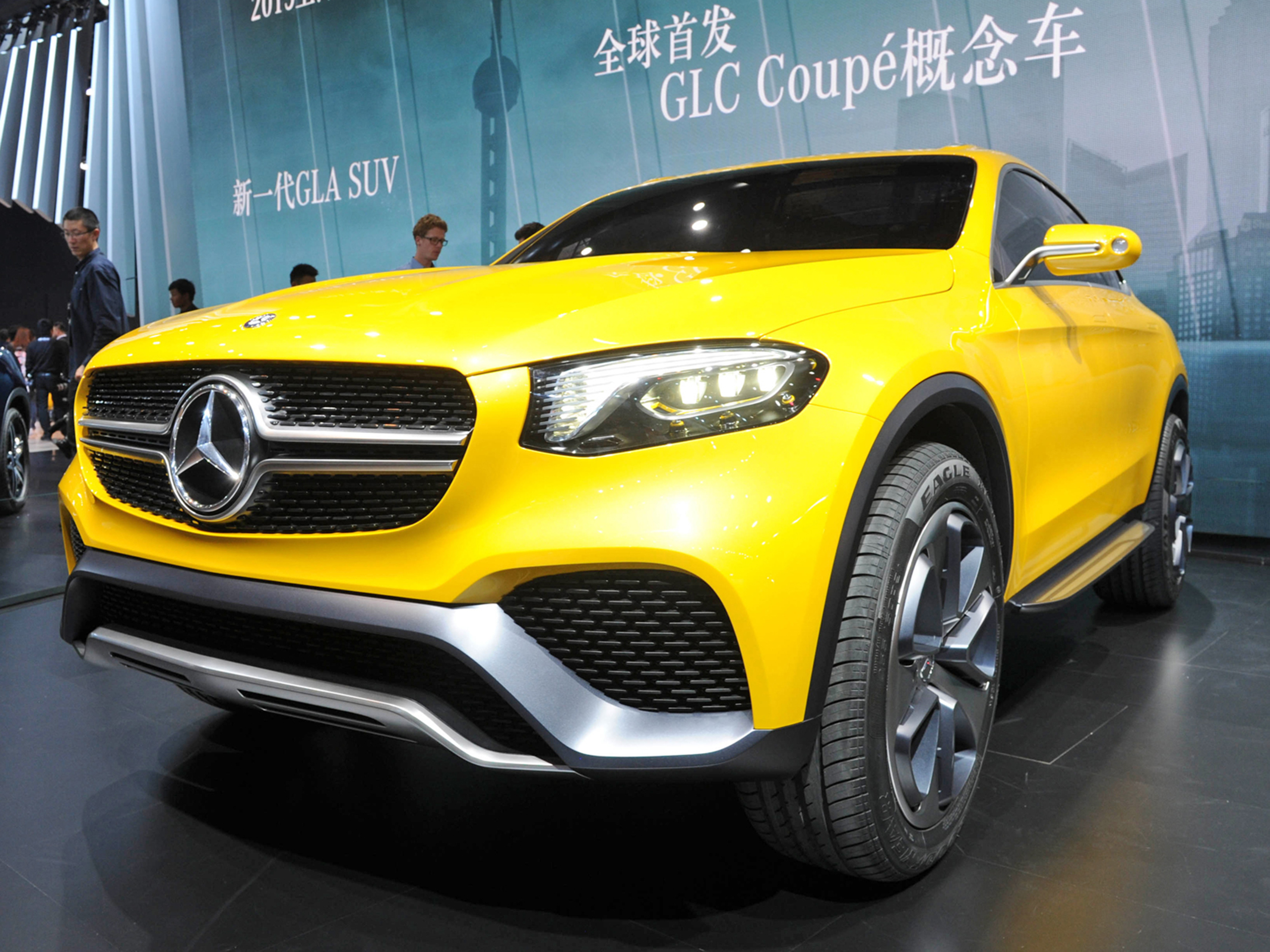 mercedes glc coup concept 2015 suv coup in shanghai. Black Bedroom Furniture Sets. Home Design Ideas