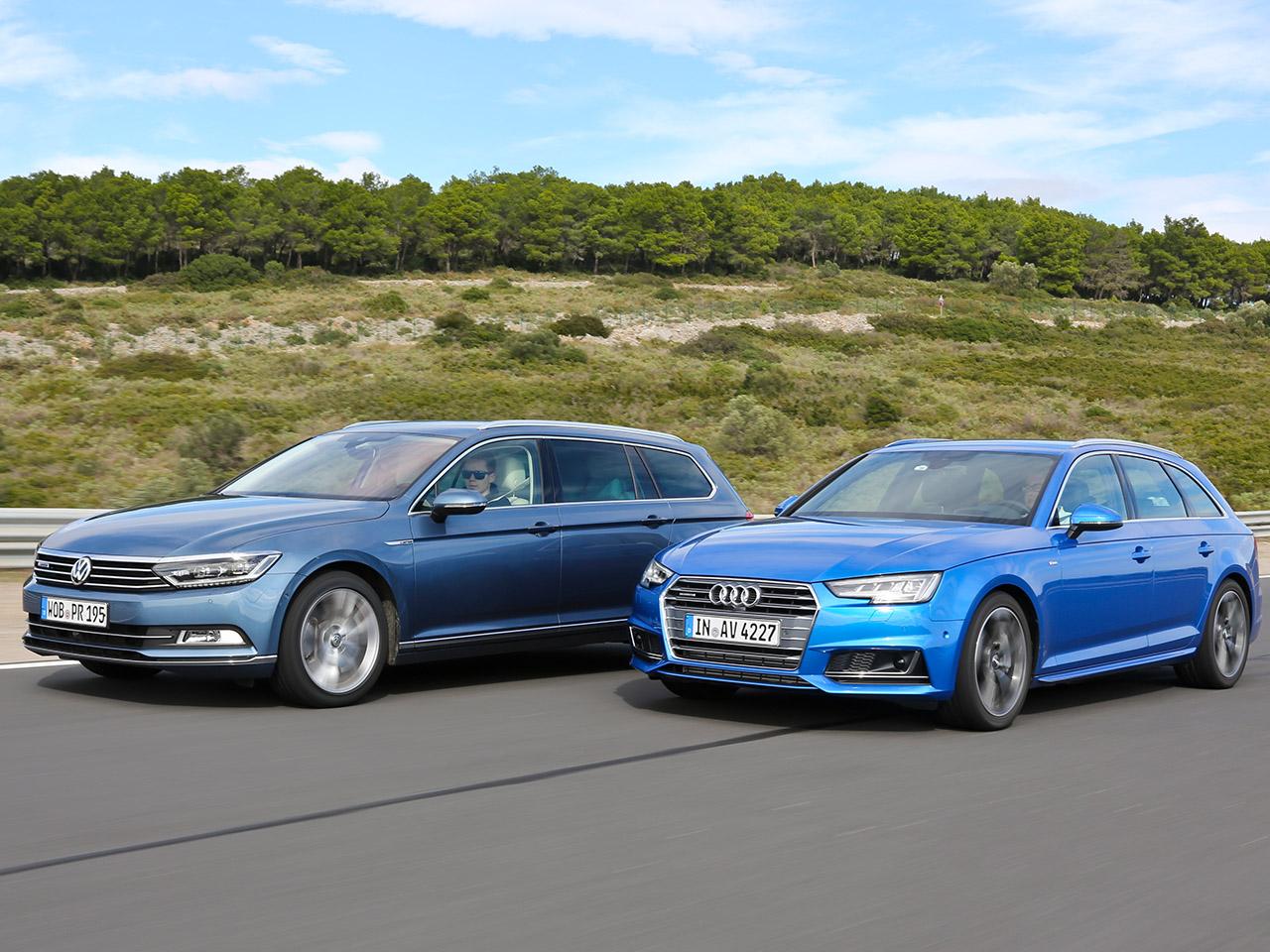 Audi A4 Avantvw Passat Variant Vergleichstest Autozeitungde