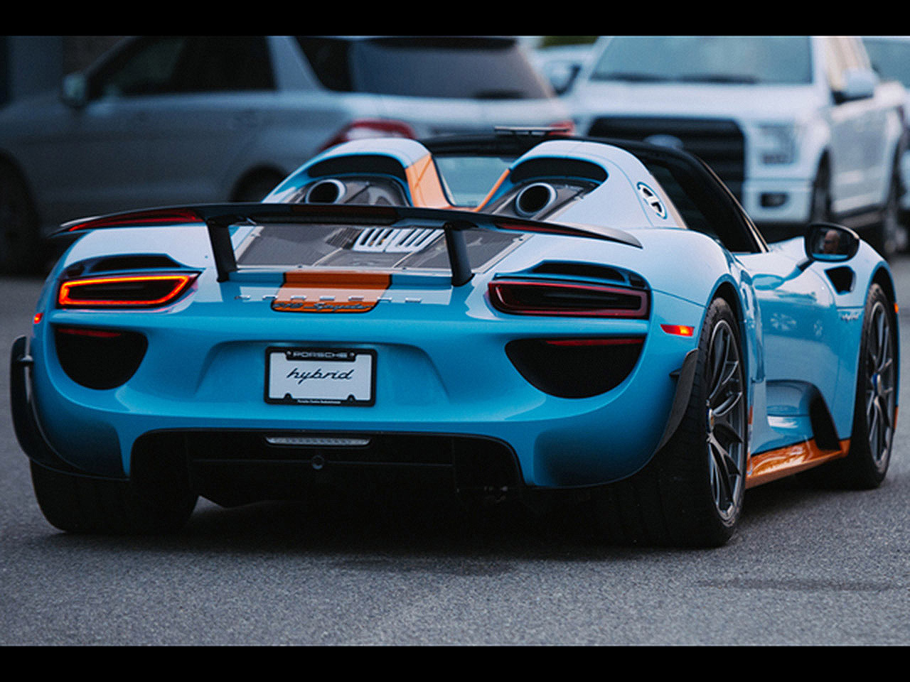 porsche 918 spyder tuning im gulf design. Black Bedroom Furniture Sets. Home Design Ideas