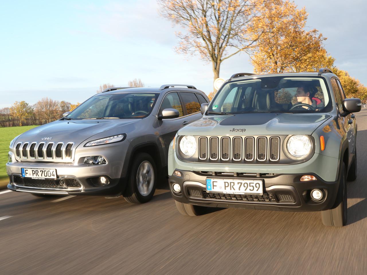 Zwei jeep suv im test