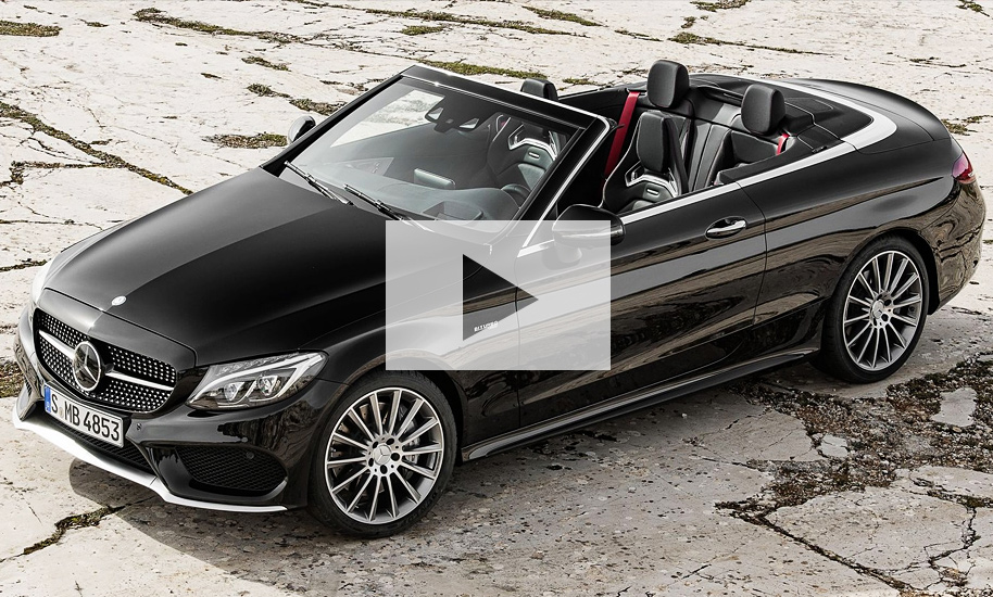mercedes c klasse cabrio 2016 video. Black Bedroom Furniture Sets. Home Design Ideas