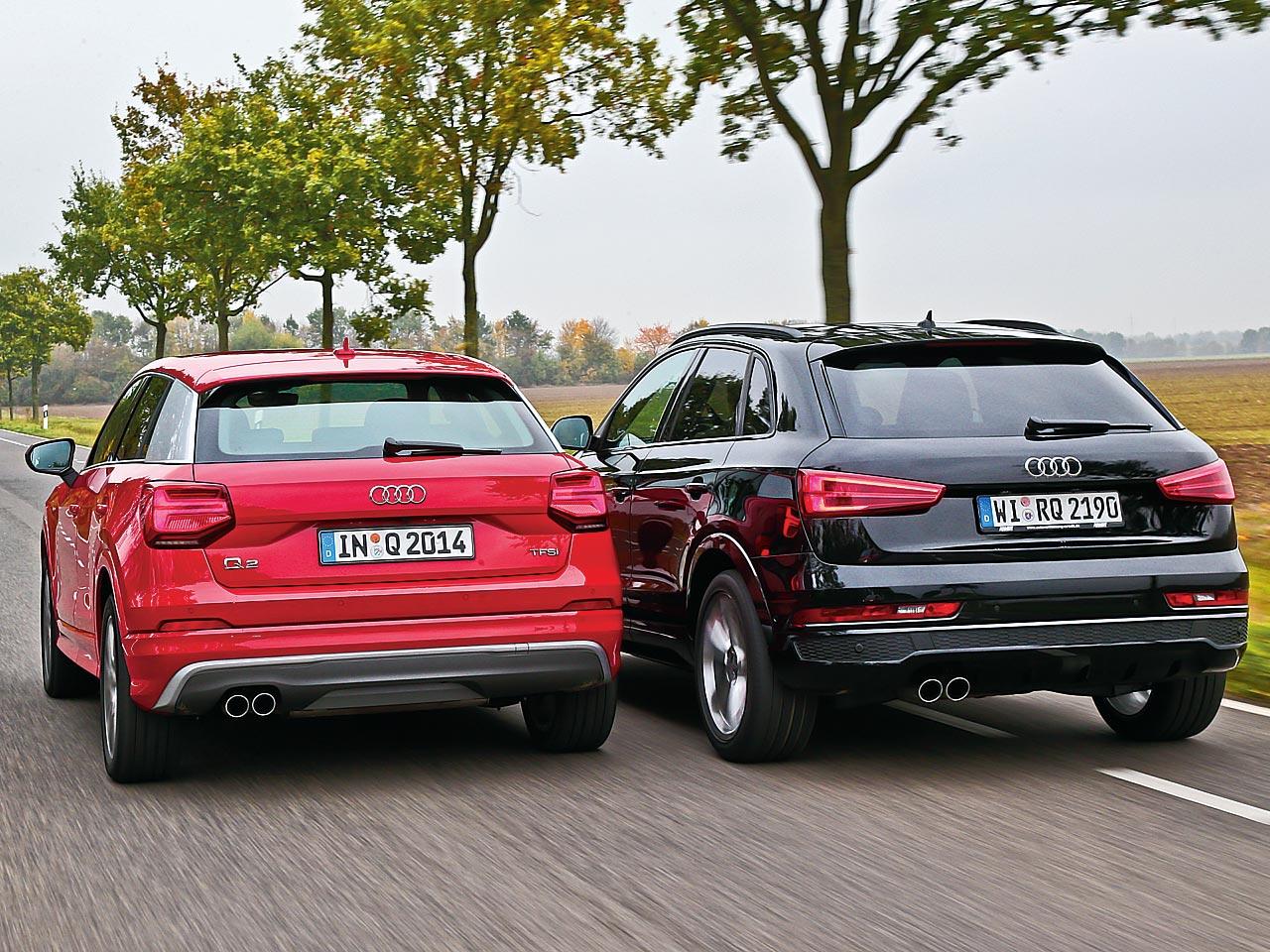 Audi Q2 Audi Q3 Vergleichstest Autozeitung De