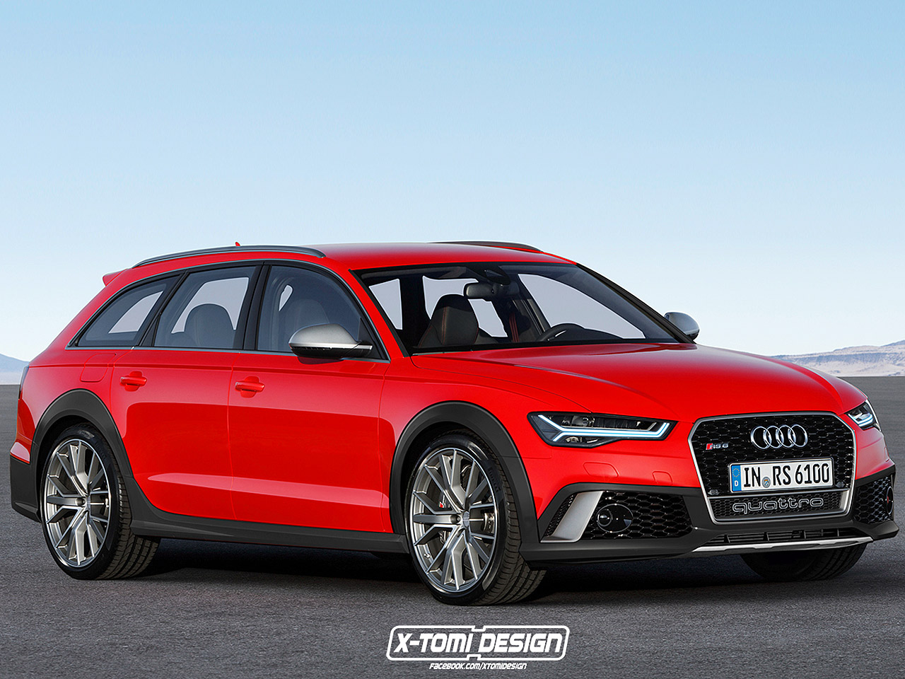 audi rs 6 allroad 2017 illustration. Black Bedroom Furniture Sets. Home Design Ideas