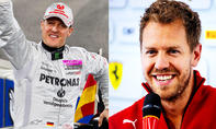 Michael Schumacher und Sebastian Vettel