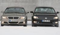 Höchstgeschwindigkeiten des BMW 320d und des VW Passat 2.0 TDI BlueMotion Technology