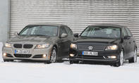 Mittelklasselimousinen: BMW 320d und VW Passat 2.0 TDI BlueMotion Technology