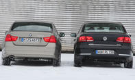 BMW 320d und VW Passat 2.0 TDI BlueMotion Technology
