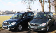 Vergleich SUV Van Skoda Yeti Roomster 1-2 TSI
