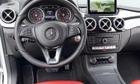 Mercedes B 200 CDI 4Matic 2014 Facelift Test Fahrbericht Innenraum Cockpit