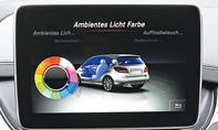 Mercedes B 200 CDI 4Matic 2014 Facelift Test Fahrbericht Display Monitor Ambiente-Licht