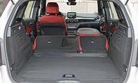 Mercedes B 200 CDI 4Matic 2014 Facelift Test Fahrbericht Innenraum Kofferraum Rückbank