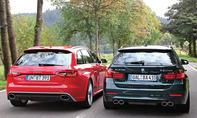 BMW Alpina B3 Biturbo Audi RS4 Avant Vergleich Test Sportkombi Heck