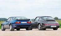 porsche 964 carrera 2 944 turbo vergleichstest sportwagen classic cars heck
