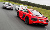 Audi R8 Nissan GT R Porsche 911 Heckansicht