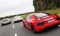 Audi R8 Nissan GT R Porsche 911