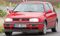 Sieben Generationen VW Golf GTI