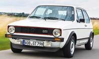 Sieben Generationen VW Golf GTI