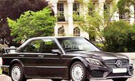 Mercedes-190E-AMG mit der Front der Mercedes C-Klasse W205