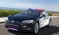Tesla Model S Polizeiauto