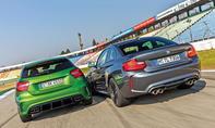 Mercedes-AMG A 45 und BMW M2