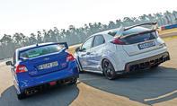 Subaru WRX STI und Honda Civic Type R
