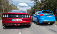 Ford Mustang GT/Ford Focus RS: Vergleich