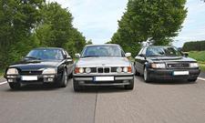Audi 100 S4, BMW 525i und Citroën CX Turbo