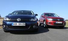 VW Golf Variant 2.0 TDI gegen VW Tiguan 2.0 TDI BlueMotion Technology im Test
