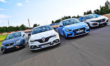 Honda Civic Type R/Hyundai i30 N Performance/Renault Megane R.S./Seat Leon Cupra R