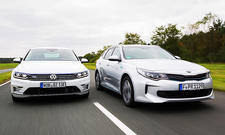 VW Passat GTE, KIA Optima Plug-in Hybrid SW
