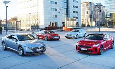 VW Arteon, Audi S5, BMW 440i, Kia Stinger