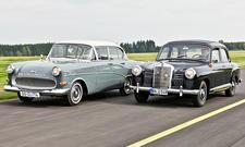 Mercedes 180 Ponton/Opel Olympia Rekord