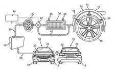 Mercedes-Patent wassergekühlte Reifen