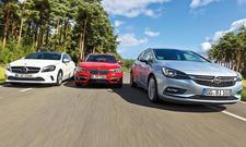 Mercedes A-Klasse, BMW 1er und Opel Astra